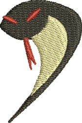 Cobra Snake embroidery design