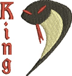 King Cobra embroidery design