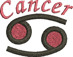 Cancer Sign embroidery design