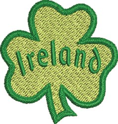 Filled Shamrock embroidery design
