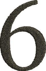 Number Six embroidery design
