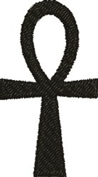 Ankh symbol embroidery design