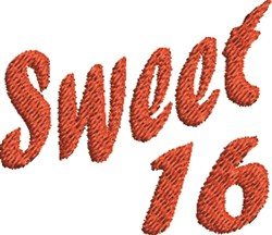 Sweet 16 embroidery design