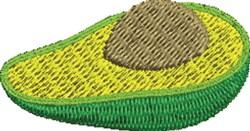 Avocado Half embroidery design