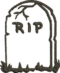 RIP Outline embroidery design