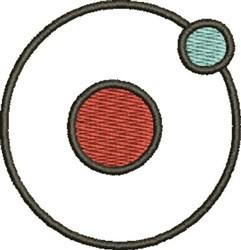 Atom Symbol embroidery design