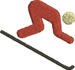 Skier Silhouette embroidery design