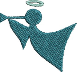 Trumpet Angel embroidery design