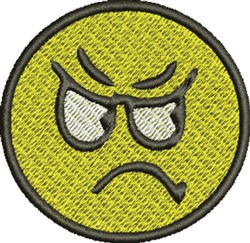 Angry Face embroidery design