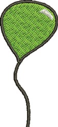 Green Balloon embroidery design