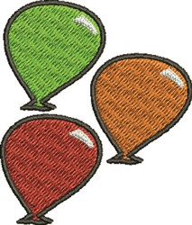 Three Balloons embroidery design