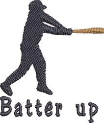 Batter Up embroidery design