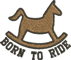 Born ride embroidery design