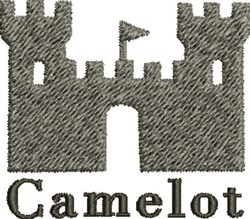 Camelot Castle embroidery design