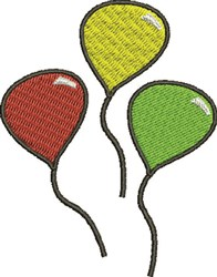 Color Balloons embroidery design