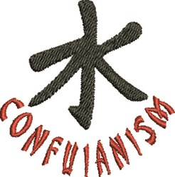 Confuianism embroidery design