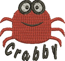 Crabby Crab embroidery design