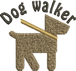 Dog Walker embroidery design