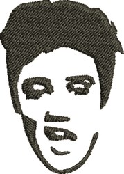 Elvis Head embroidery design