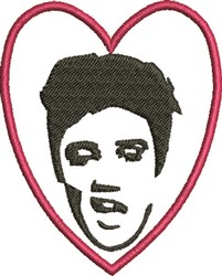 Elvis Heart embroidery design