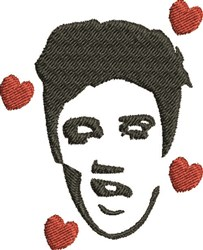 Elvis Hearts embroidery design