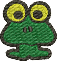 Big Eye Frog embroidery design