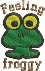 Froggy embroidery design