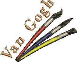 Van Gogh embroidery design