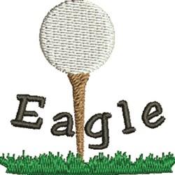 Golf Eagle embroidery design