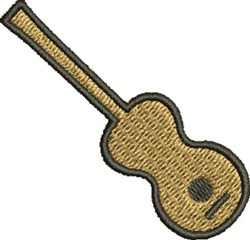 Guitar Shape embroidery design