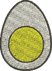 Half Egg embroidery design