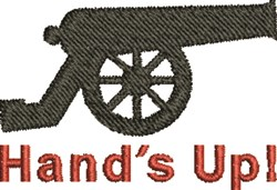 Hands Up embroidery design