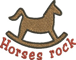 Horses Rock embroidery design