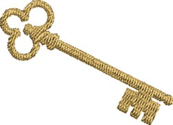 Antique Key embroidery design