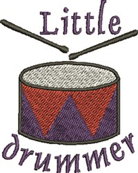 Little Drummer embroidery design
