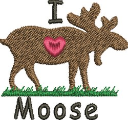 Love Moose embroidery design