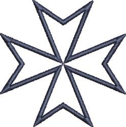 Maltese Cross Outline embroidery design