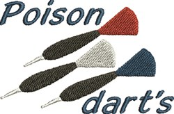 Poison Darts embroidery design