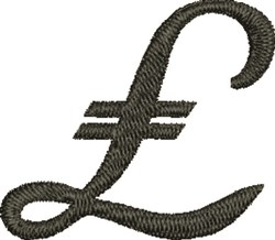 British Pound embroidery design