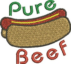 Pure Beef embroidery design