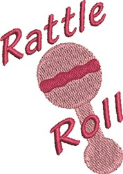 Rattle Roll embroidery design