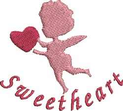 Sweetheart Cupid embroidery design