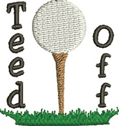 Teed Off embroidery design