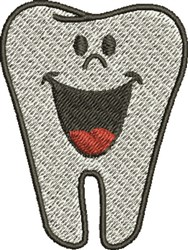 Happy Tooth embroidery design