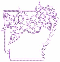 Arkansas State Flower embroidery design
