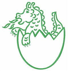 Dragon In Egg embroidery design