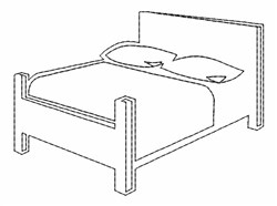 Bed Outline embroidery design