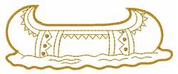 Canoe embroidery design