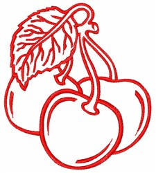 Cherries Outline embroidery design