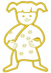Bedtime Child embroidery design